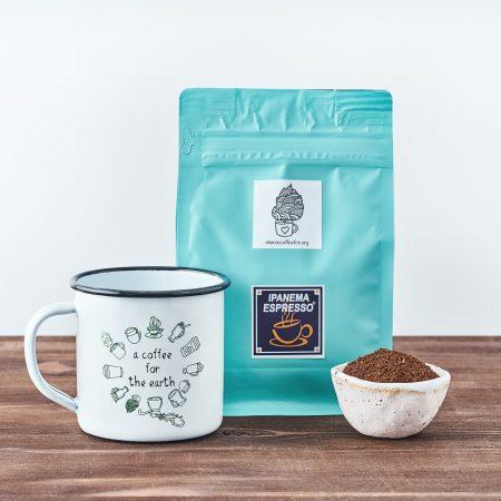 share a coffee, comparte un cafe, cafe solidario, cafe virtual, tazas de colores